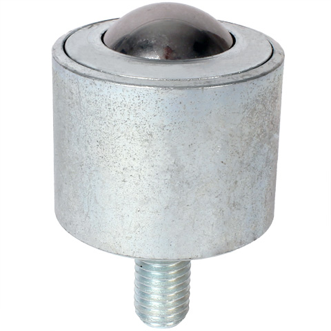 Ball transfer unit - Heavy - Stainless steel body, stainless steel balls - With threaded stud