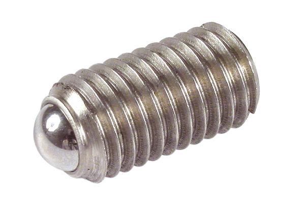 Poussoir ressort - embout à bille - Inox 303 - Standard -
