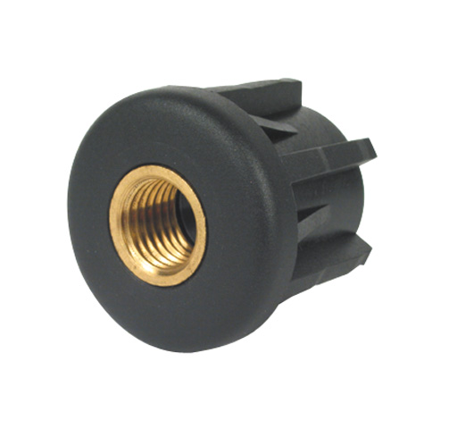 Tube end cap - With threaded insert - Round -