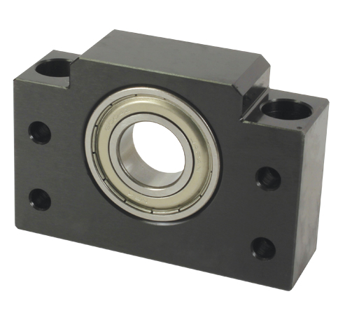 Ballscrew - Support - For a floating installation - Radial contact