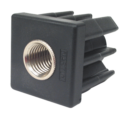 Tube end cap - With threaded insert - Square -