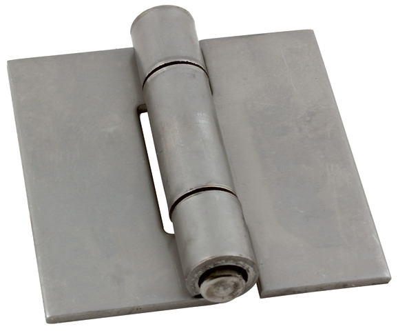 Hinge - Square with riveted pin, not drilled - Steel -