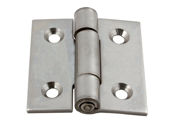 Hinge - Square with riveted pin, drilled - Stainless steel -