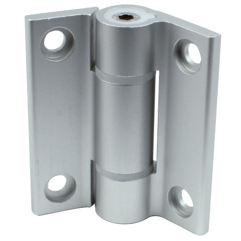 Hinge - Adjustable friction - Aluminium -