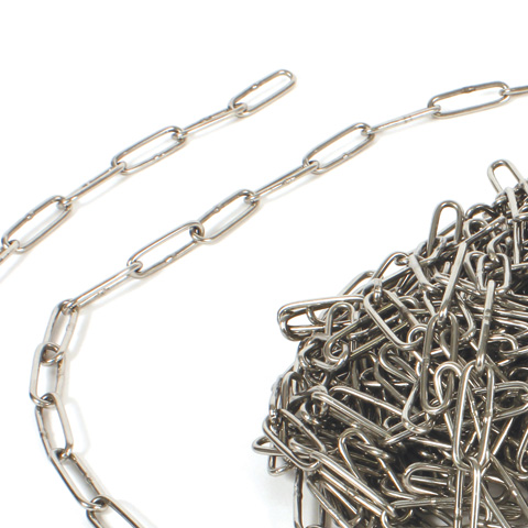 Straight long link chain - Stainless steel - Supplied by the box -