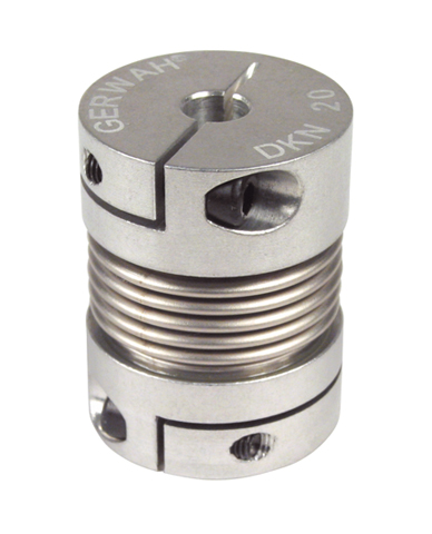 Bellows coupling Gerwah® - from 0.4 to 10Nm - Miniature - with set screw -