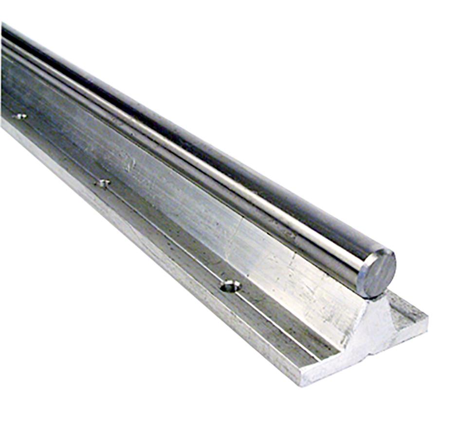 Arbre de précision - Arbre acier / support aluminium - Ronde avec support -