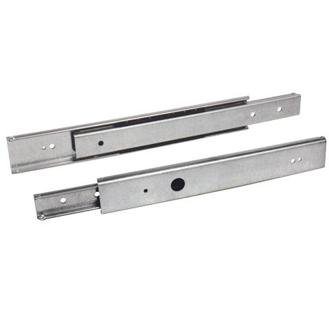 Telescopic slide rule - Partial extension - 35kg max - 2 rails