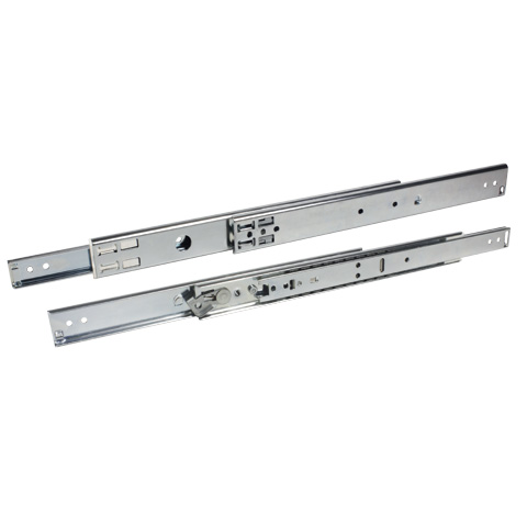 Telescopic slide rule - Full extension, removable - 52kg max - 3 rails