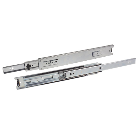 Telescopic slide rule - Full extension, removable - 40kg max - 3 rails
