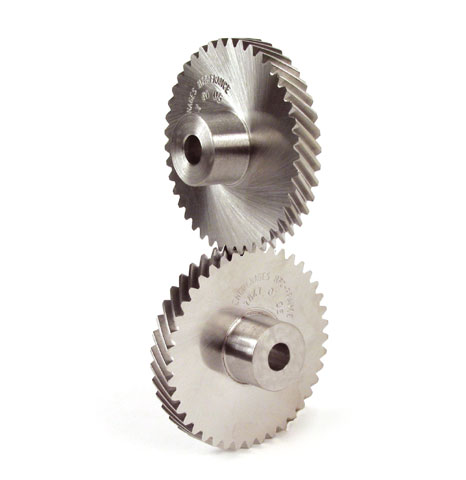 90° crossed axis helical gear - Steel 20NCD2 - 1.5 -