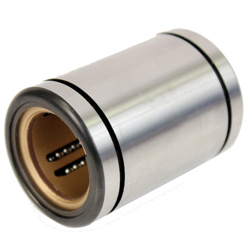 Linear bearing with inclined ball tracks - Heavy loads / -20° +200° - Closed - Steel