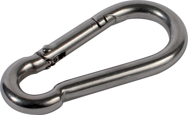 Carabiner - Stainless steel - 5 to 12mm -