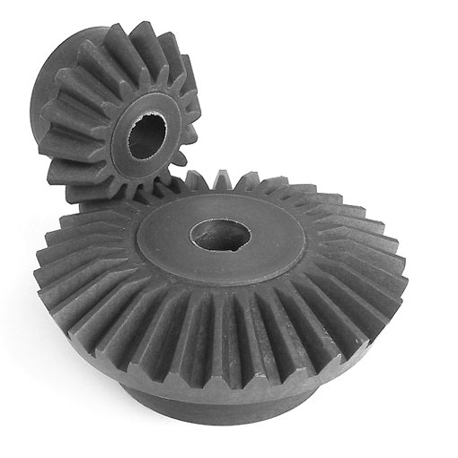 Ingranaggio conico in plastica stampata (nylon) - 2:1 - 2.00 - Economica