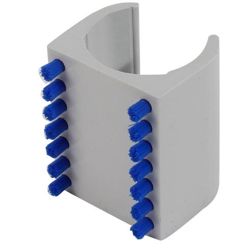 Spazzole di sostegno - Tubi Ø28 - Poliammide fibre PA6 + Corpo PVC -