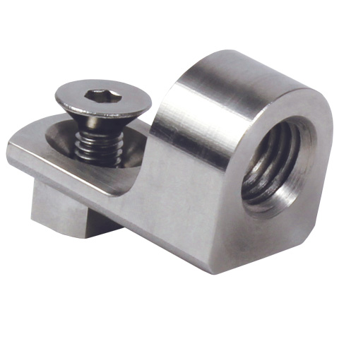 Sensor support - Right angled support clamp - Stainless steel -