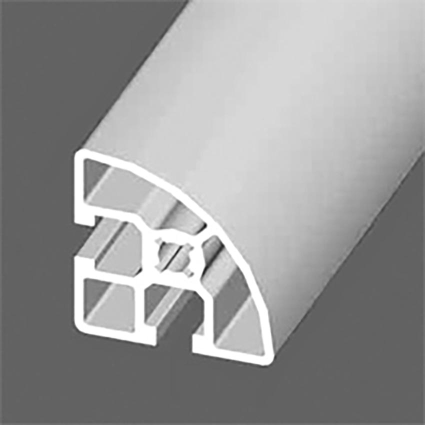 Standard aluminium profile Section:45 x 45 mm - R90