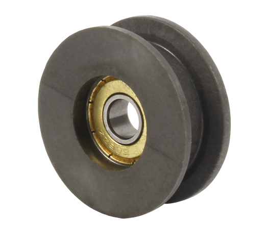 Tensioner pulley - For flat belts - PA6 reinforced with 30% fibreglass - 5 000 rpm