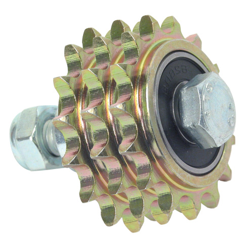 Idler chain sprocket - For standard applications - Triple - Bichromate steel