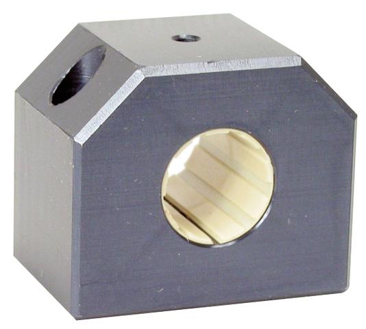 Palier pour douille à billes - Fermé court - Aluminium et polymère -
