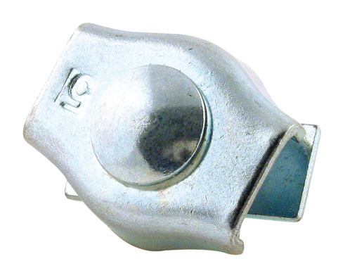Cable clamp - Steel - Single - Flat