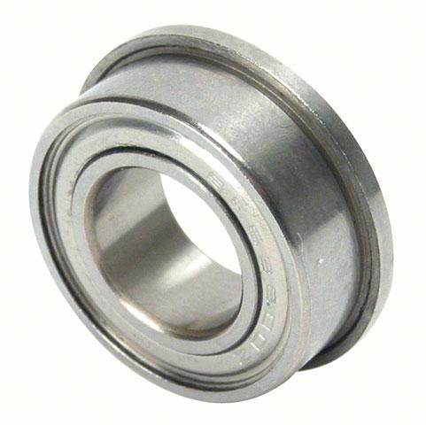 Roulement à billes - Inox - Avec collerette et plaques de protection -