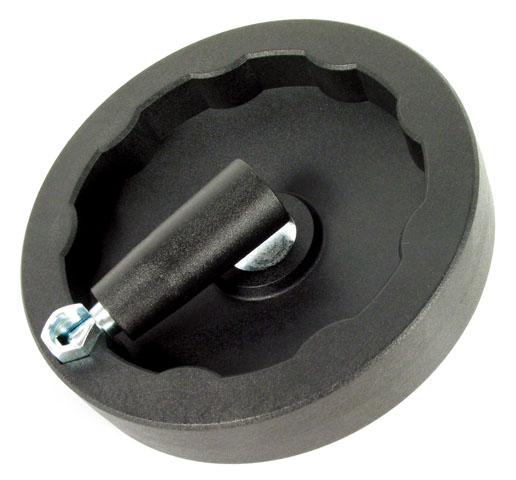 Hand wheel - Polyamide - Solid - Folding revolving handle