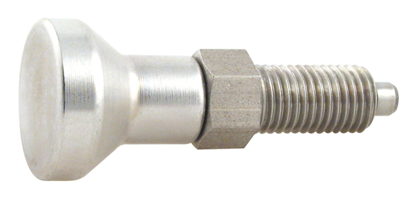 Indexing plunger - Stainless steel - pull to unlock -