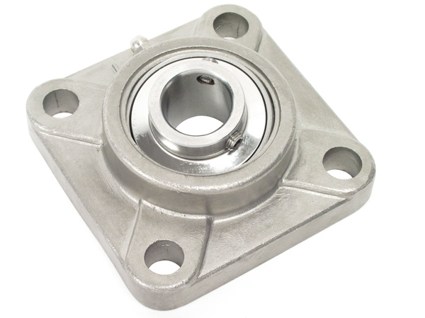 Flange bearing - Stainless steel - 4 fixing holes -