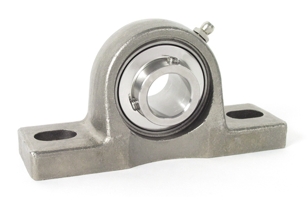 Pillow block - Stainless steel - 2 fixing holes -