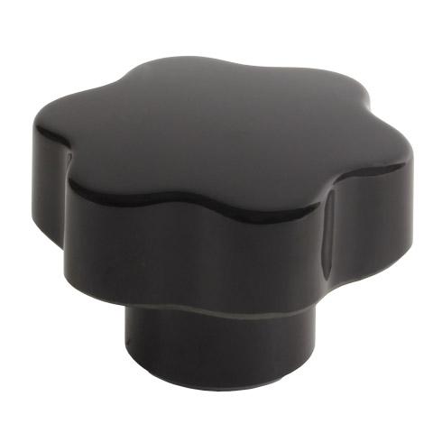Small 6 lobe threaded handle - Duroplast - Stainless steel - Blind thread -