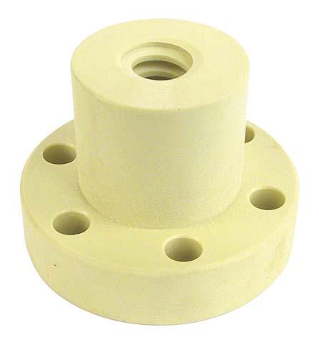 Trapezoidal nut - Polymer (Iglidur®) - 1 thread - Flanged -