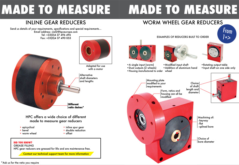 Custom made Gearboxes